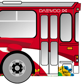 Daewoo - реклама на транспорте